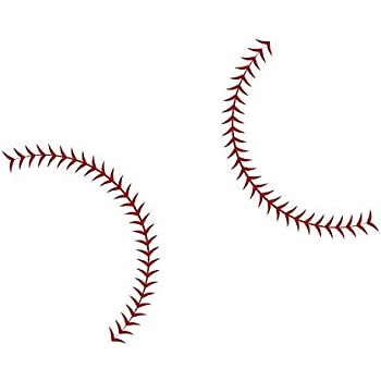Large Baseball Seams Stitching - Vinyl Wall Art Decal for Homes Offices Kids Rooms Nurseries Schools High Schools Colleges Universities ...  sc 1 st  Amazon.com & Amazon.com: Baseball Stitches Wall Decal (33X24): Home u0026 Kitchen