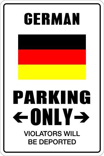 StickerPirate German Parking Only 8