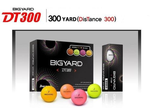 Big Yard DT 300 Colored 432 Dimple Design Golf Balls – 1 Dozen (12pcs), Outdoor Stuffs