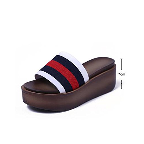 Couleur 5 Chaussures grossières pour et femmes 1003 4 7cm UK6 de EU39 1004 HAIZHEN chaussures femmes Pour mode CN40 sortes taille Chaussons épaisses féminines couleurs q84BpTvx