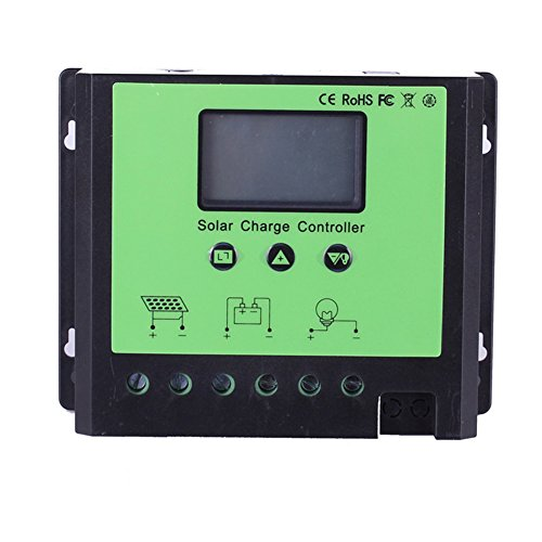 Morning Group 40 Amp Pwm Smart Solar Charge Controller With Lcd Display  40A 24 48V