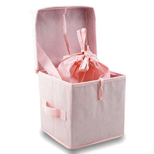 Simplicity Fabric Dog, Cat Animal Memorial Urn - Large - Holds up to 200 Cubic inches of Ashes - Pink Biodegradable Pet Cremation Urn for Ashes