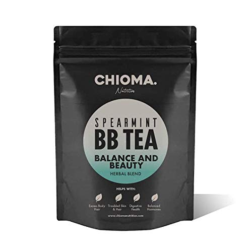 Organic Spearmint, Licorice and White Peony Tea Bags ~ Spearmint BB Tea for LadiesBalance All Natural Balancing Blend, Hair & Acne Control