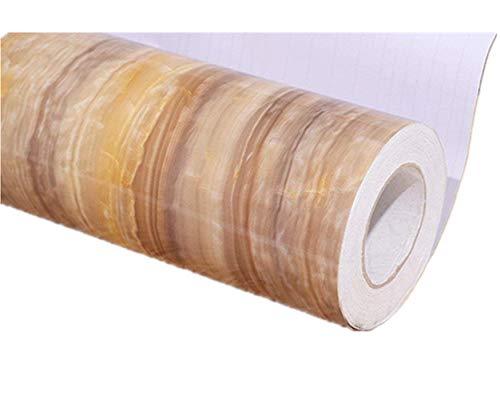 (Emoyi Ripple Look Marble Granite Effect Paper Film Self Adhesive Wallpaper Shelf Liner Counter Decor 24''x79'')