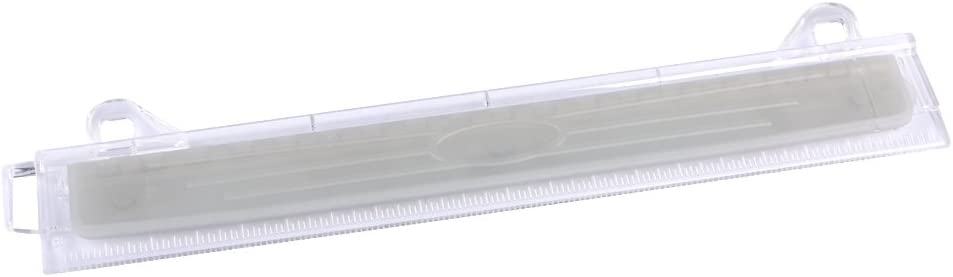 Eagle Ring Binder 3 Hole Punch, with Chip Tray, Built-in Ruler, Fit for Standard 3 Ring Binder (White)