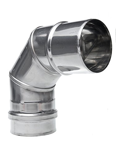 Winkel Edelstahl DN 80x87 80mm Schornstein Sanierung Rauchrohr Ofenrohr Abgasrohr