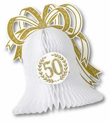 Beistle Party Decoration Accessory 50th Anniversary Centerpiece 10.5