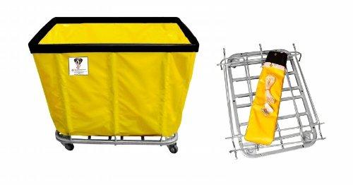 Bushel Vinyl Laundry Truck Cart (R&B Wire 416KD 16 Bushel UPS-FEDEX-ABLE Basket)