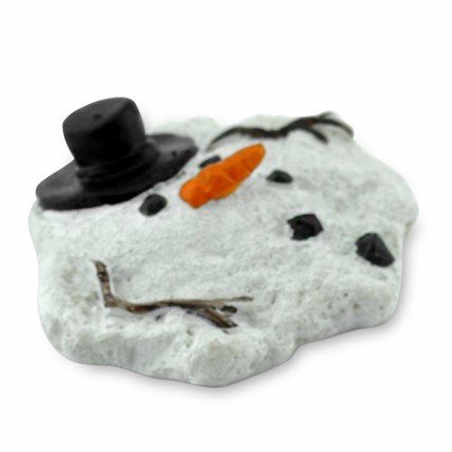 Miniature Fairy Garden Mini Melted Snowman -