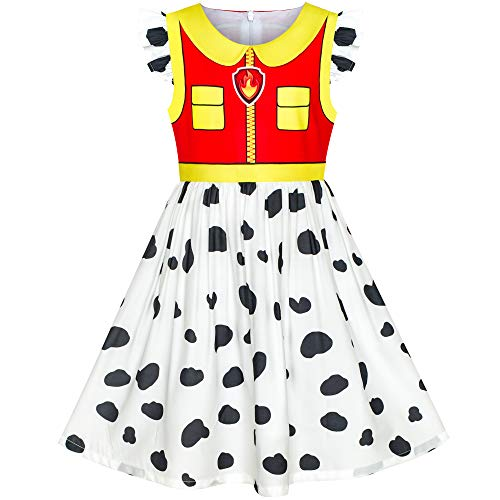 Girls Dress Paw Marshall Costume Patrol Halloween Party Size 4]()