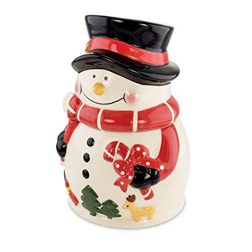 (KOVOT Snowman Cookie Jar | Ceramic Snowman Holiday Treats Jar | Measures 9