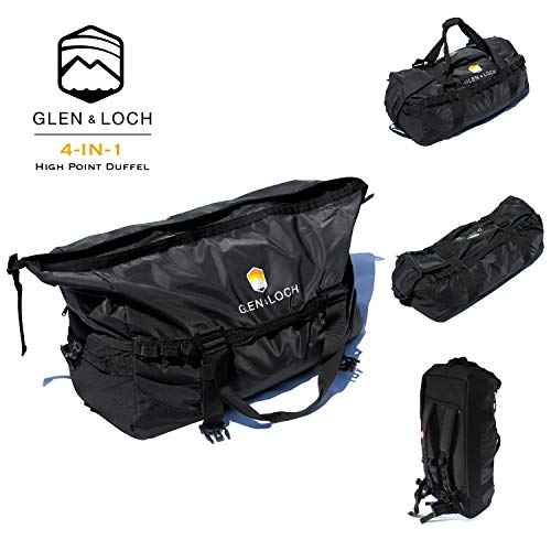 The High Point Weatherproof Duffel by Glen & Loch 4-in-1 All-Purpose Roll-Top Outdoor Bag