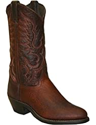Abilene Mens Bison Leather Cowboy Boot - 6404