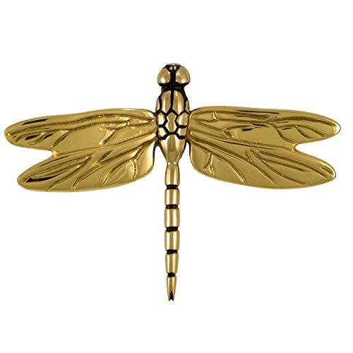 Dragonfly in Flight Door Knocker - Brass (Premium Size)