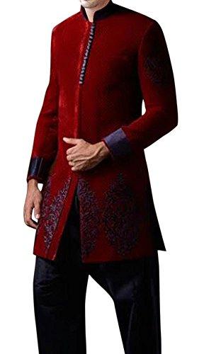 INMONARCH Mens Gorgeous Look Indo Western IN399 Custom-made Maroon