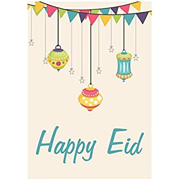 Amazon eid cards random mixed abstract designs pack of 10 zaffron shop eid lanterns party greeting cards 10 pack stopboris Choice Image