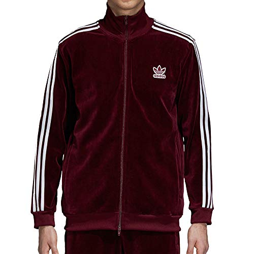- adidas Originals Men's Velour BB Track Top Maroon XX-Large
