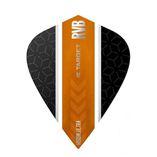 10 x Sets Target Dart Flights Kite Vision Ultra Barney RVB Black Orange Stripe