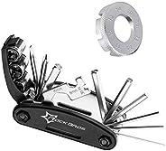 Bicycle Multitool Kit Set Bike Multifunction Tool Portable Park Multitool Bike Repair Tool Kit Set with Bicycl
