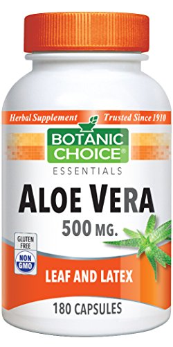 Aloe Vera 500 mg, Sooth, Cleansing, Aid Digestion 180 capsules ()