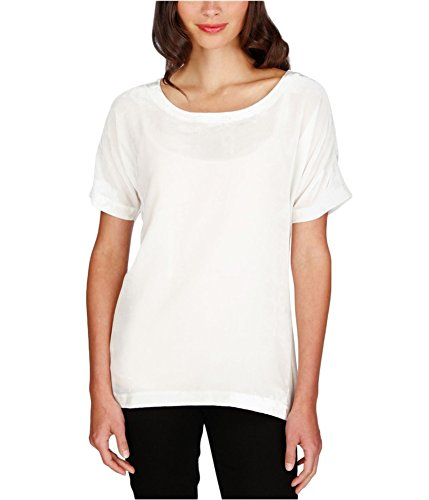 Lucky Brand Womens Velvet Zip-up Back Casual Top Ivory L by Lucky Brand