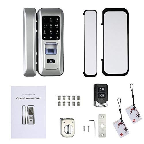 Walmeck Fingerprint & Touchscreen Smart Lock Digital Lock for Double Open Glass Door Fingerprint Lock Electronic Keyless Touch-screen Door Lock Fingerprint Door Lock for Glass Door by Walmeck (Image #2)