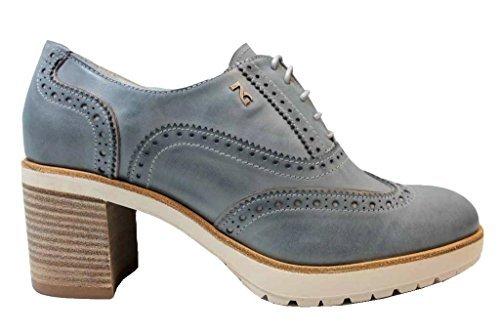 P805041D De De Estilo Guerra NeroGiardin Zapatos Cordones Inglés Marino Marina de Mujer Negro y BRnYzdgqw