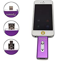 Tipmant 32GB OTG USB Flash Drive for iPhone i-Flash Memory Stick Compatible with Computer, iPhone & iPad (Lightning Connector) and Android Cell Phone - Purple