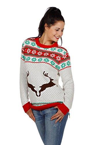 Weihnachtspullover Rentier Ugly Christmas Sweater Pullover Weihnachten S-XXL