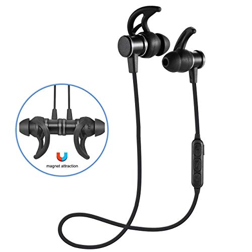 Bluetooth Headphones,Bluetooth Earphones Wireless Earbuds Stereo Magnetic Earbuds,in Ear Stereo Heavy Bass Rechargeable Slim Comfort Earbuds Built-in (Wearing Bluetooth Headset)