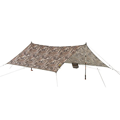 Slumberjack Satellite Tarp & Shelter, Highlander - 10'x8.5' - Compact, Lighweight, Waterproof, Multi-Pitch Camping Tarp