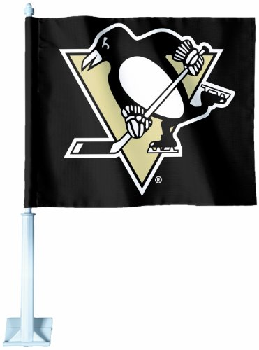 Pittsburgh Penguins Car Flag - WinCraft NHL Pittsburgh Penguins Car Flag