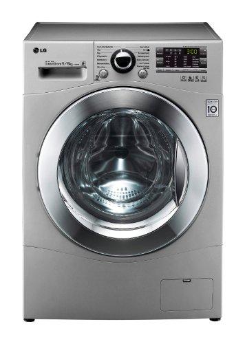 LG F 14A8 RD5 Waschtrockner AA / 1400 UpM / 9 kg Waschen / 6 kg Trocknen / Kurzwäsche / Beladungserkennung / Smart Diagnosis / silber