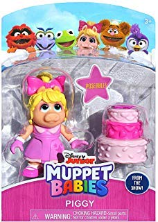 MISS PIGGY Muppet Babies Poseable Action Figure 2.5