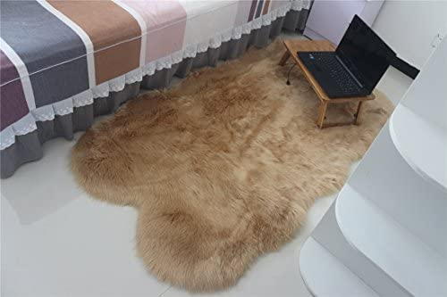 CHITONE Faux Sheepskin Fur Nursery Rug