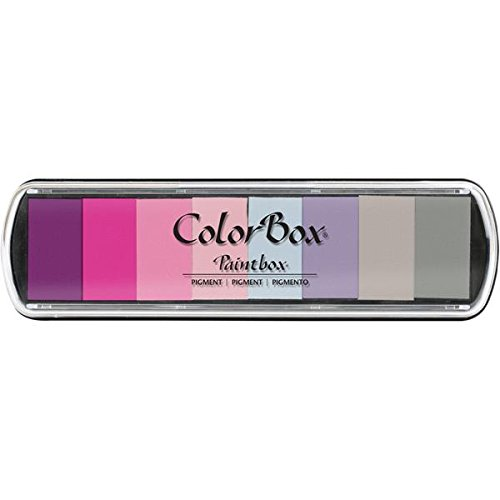 Clearsnap Colorbox Pigment Paintbox 2-Option Pad, Brights, 12 Colors Per Pad 130000-13007