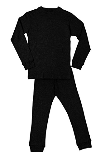 Men's Long John Thermal Underwear Set Black XL (Man Thermal Underwear compare prices)