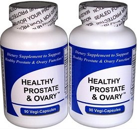 Healthy Prostate and Ovary - (2 Bottles Contain a Total of 180 Vegi-Capsules) - Concentrated Herbal Blend -with Crinum Latifolium, Vegan Kosher Caps. Prostate Herbs for Optimal Support* by Get Well Natural, LLC