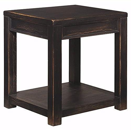 Superieur Ashley Furniture Signature Design   Gavelston End Table   Square   Rubbed  Black Finish