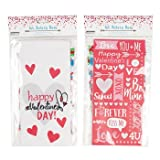 BAKERY BAGS VALENTINE 8CT 2AST DESIGNS/12PC MDSGSTRIP, Case Pack of 48