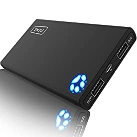 INIU Portable Charger, 10000mAh Power Bank, High-Speed 2 USB Ports with Flashlight Battery Pack, Ultra Compact Slim Phone Charger Compatible with iPhone XS X 8 7 6 Samsung Galaxy Note 9 S9 iPad Tablet