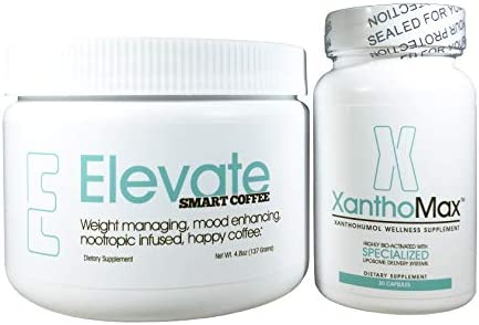 Amazon Com Elevate Coffee Tub And Xanthomax Nootropics Infused