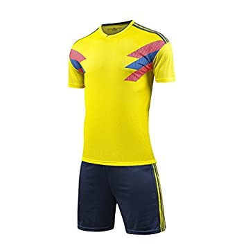 GDSQ Equipo De Fútbol Colombia Team 2018 World Cup Fan Edition Camiseta con Ribete De Béisbol