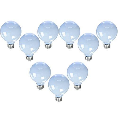 GE Reveal Frosted 40-Watt 250 Lumens; 1.4 Year Life G25 Decorative Globe Light Bulbs (9 Bulbs) ()