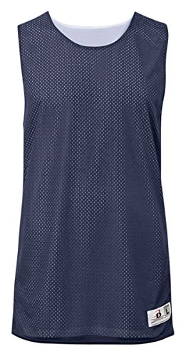 - Badger Sport Ladies Challenger Reversible Mesh/Dazzle Tank Top 8959 Navy/White S