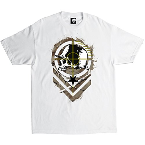 Metal Optic Sights (Metal Mulisha Mens Sight Short-Sleeve Shirt Medium Optic White)