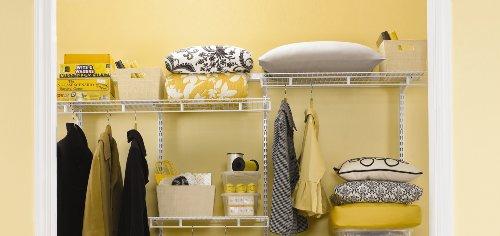 Rubbermaid FastTrack Multi-Purpose Closet Kit, Deep, White (FG3R20FTWHT)