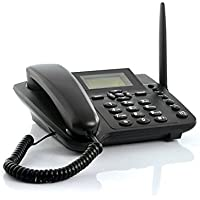 Sourcingbay Wireless GSM Desktop Phone with SIM Card Slot - Quadband and SMS Function