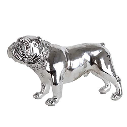 silver bulldog statue - 8