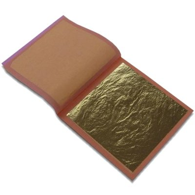 24K Gold Leaf Booklet  25 Sheets  Loose Type